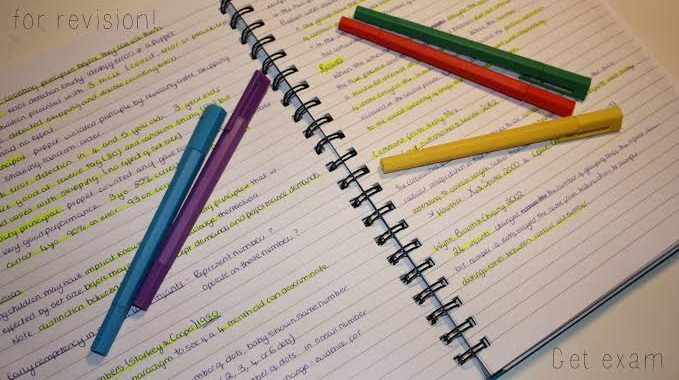 Some amazing tips to make notes before exams